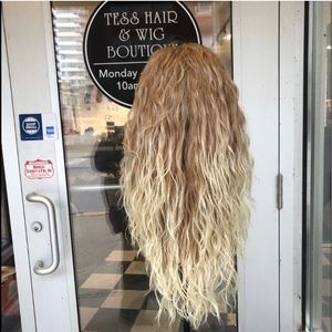 Accessories - Long blonde mix curly wig Lacefront Wavy Curly Wig